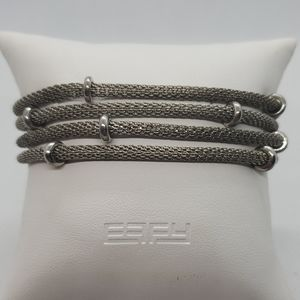 Anne Klein Silver Multilayer Bracelet